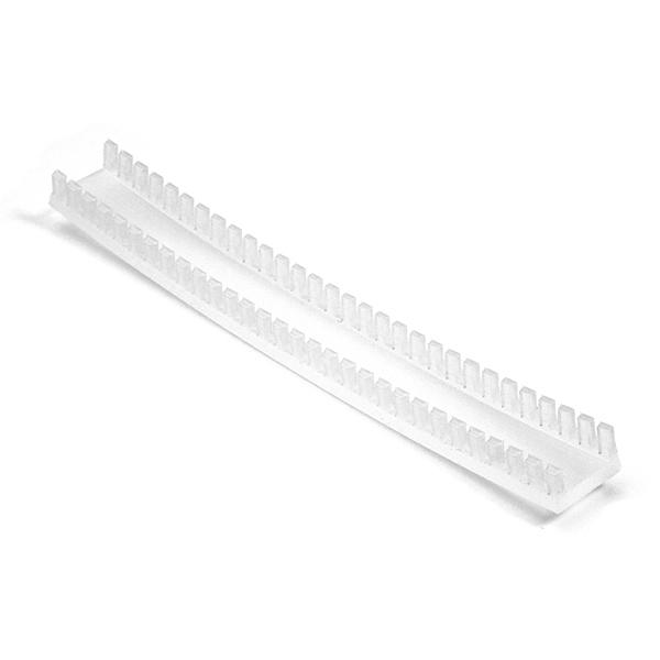 Grommet, Panel Thickness 0.382''-0.508'', PTFE, Natural, 9.7ft/pkg
