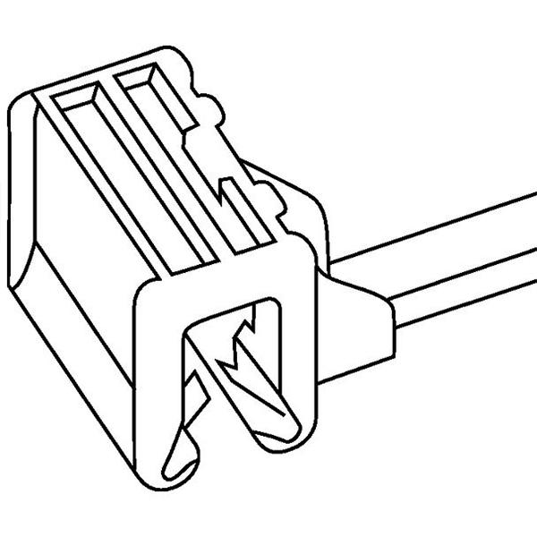 1-Piece Cable Tie & Edge Clip, 8