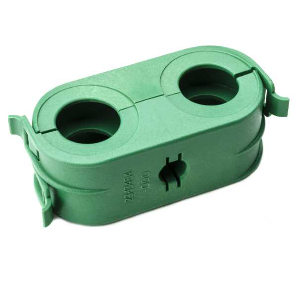 HC Clamp Bundle Separator, Two Hole, PA66HIRGF13, Green, 500/pkg