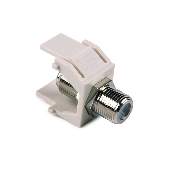 F Connector Module, Office White, 1/pkg