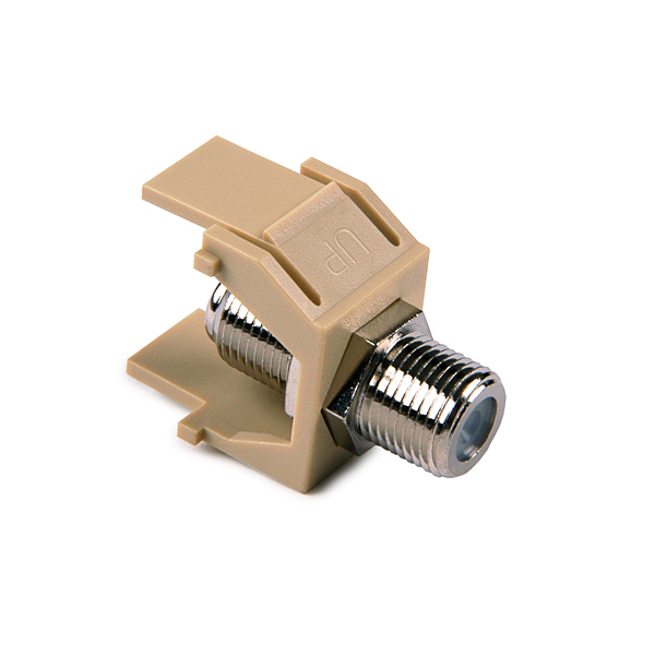 F Connector Module, Ivory, 1/pkg