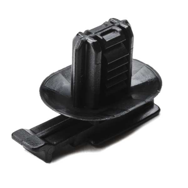 Connector Clip w/Oval Fir Tree, 0.6 - 6.0 mm Panel Thickness, 6.2 x 12.2 mm Hole Dia, PA66HIRHS, Black, 1000/pkg