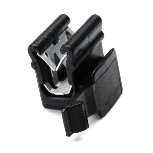 Connector Clip, Panel Thickness 1.5-4.0mm, PA66HIRHS, Black, 500/pkg