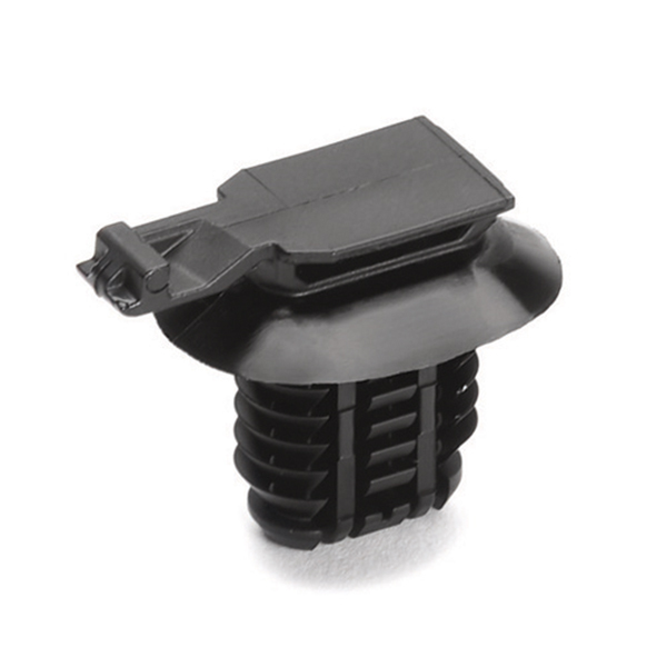 Connector Clip, Mounting Hole Dia. 8.0–15.0mm, PA66HIRHS, Black, 5000/carton