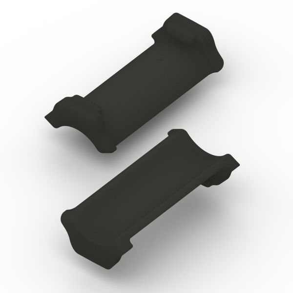 Ratchet P-Clamp Size B Soft Insert, TPE, Black, 100/bag