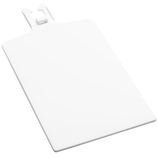 50 x Blank White Plastic Tags 75mm x 50mm with Ties and a Pen