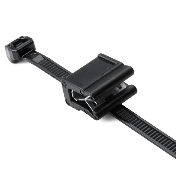 Outside Serrated Cable Tie & Edge Clip, 5.9