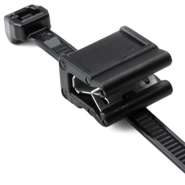 Outside Serrated Cable Tie & Edge Clip, 8.0