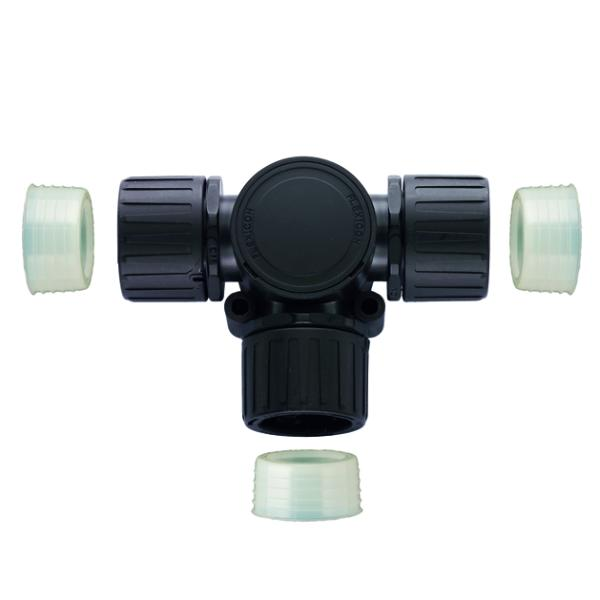 HelaGuard Non-Metallic IP68 Fitting, T-Connector, 1.00