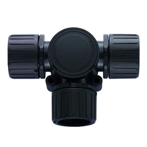 HelaGuard Non-Metallic IP66 Fitting, T-Connector, 0.75