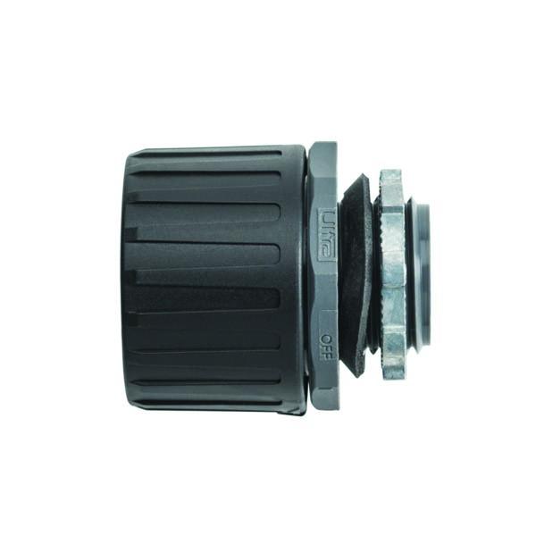 HelaGuard Non-Metallic Ultra Fitting, Straight, IP68, M20 Thread, 16mm Dia, PA66, Black, 200/pkg