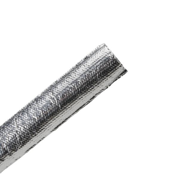 Braided Sleeving, Aluminum Laminated Fiberglass, 0.75