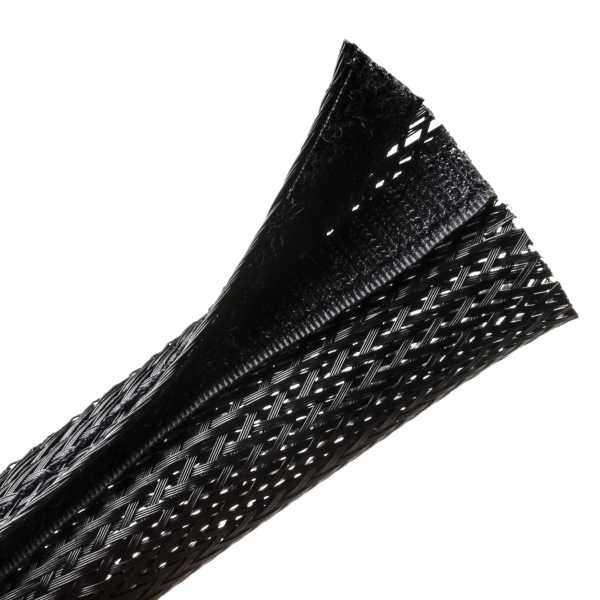 Braided Sleeving, Hook & Loop, Flame Retardant, 2.0
