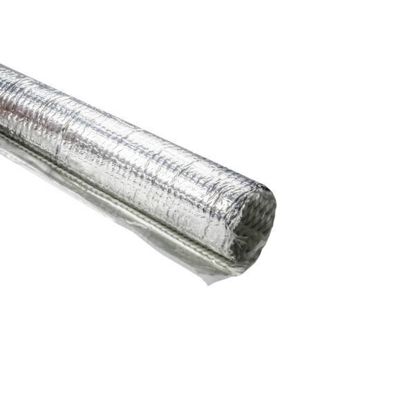 Braided Wrap, Aluminum Laminated Fiberglass, 4' Long Stick, 1.25