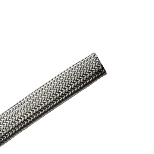 Electromagnetic Protection Braided Sleeving, Flame Retardant, 10 mm Dia,PET;TNCU, TCBK, 164ft/Reel