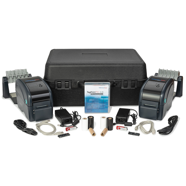 TT130SMC 2-Printer Kit w/Cutter, 2 Blk Ribbons, TagPrint Pro Software, Caddy, Carry Case, Blk, 1/pkg