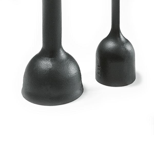 Heat Shrink Molded Shapes, 170 Series Bottle with Rib - VG, 177-1-J, PO-X, BK, 1/bag