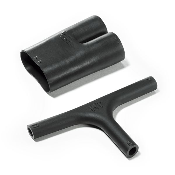 Heat Shrink Molded Shapes, Low-Profile Transition T-Boot, 412H622-9, PO-X, BK, 5/bag