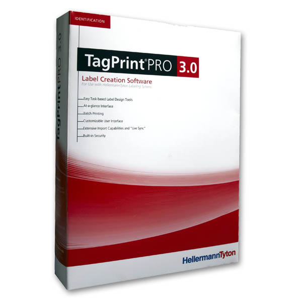 TagPrint Pro 3.0, Upgrade, Label Printing Software, 10 User to 25 User, Serial # Required, 1/pkg