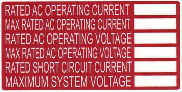 Solar Label, Printable, DC BACKUP SYSTEM, 4.0