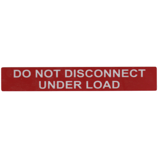 Solar Label, Reflective, DO NOT DISCONNECT UNDER LOAD, 6.5