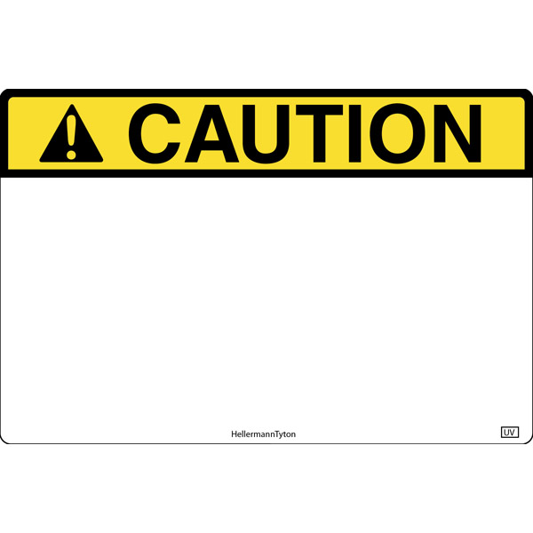 Pre-Printed Header Label, CAUTION, 6.0