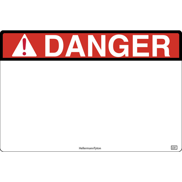 Pre-Printed Header Label, DANGER, 6.0