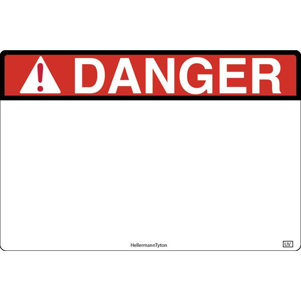 Pre-Printed Header Label, DANGER, 3.0