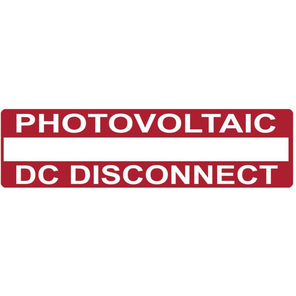 Solar Label, Printable, PHOTOVOLTAIC DC DISCONNECT, 3.75