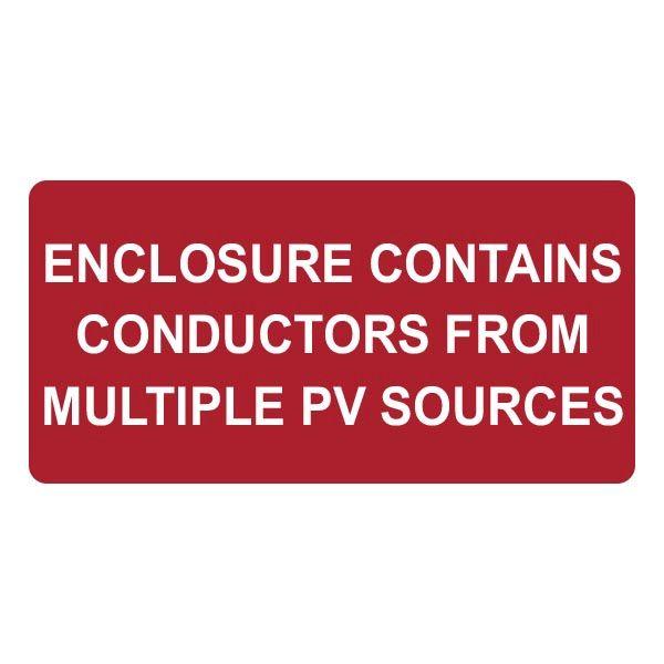 Solar Label, Enclosure Contains...PV Sources, 2020 Code, 4.0