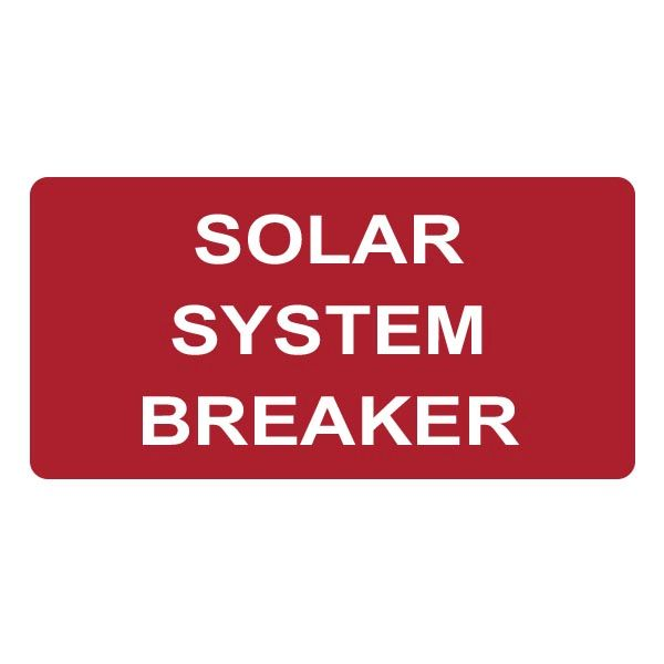 Solar Label, SOLAR SYSTEM BREAKER, 2.0