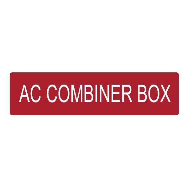 Solar Label, AC COMBINER BOX, 4.0