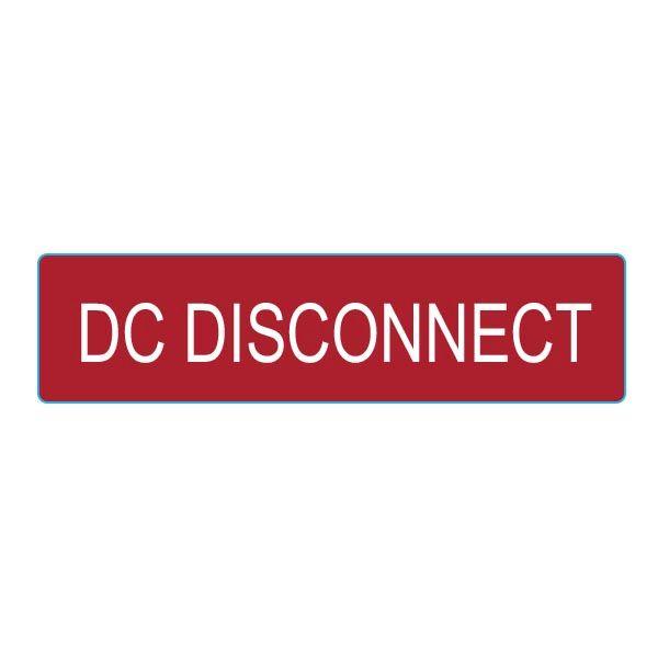 Solar Label, DC DISCONNECT, 4.0