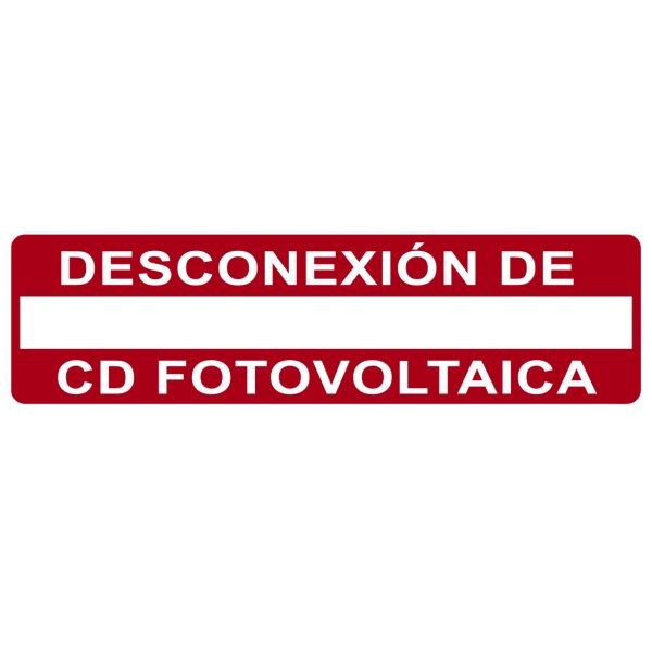 Solar Label, Printable, Spanish, PHOTOVOLTAIC DC DISCONNECT, 3.75