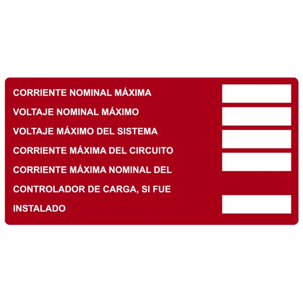 Solar Label, Printable, Spanish, DC Module, 4.0