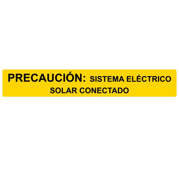 Solar Label, Reflective, Spanish, CAUTION SOLAR ELECTRIC SYSTEM..., 6.5
