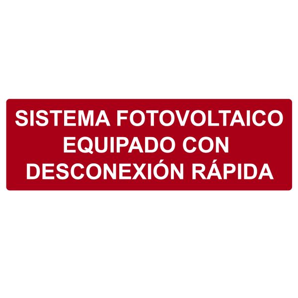 Solar Label, Reflective, Spanish, PHOTOVOLTAIC SYSTEM...RAPID SHUTDOWN, 5.5