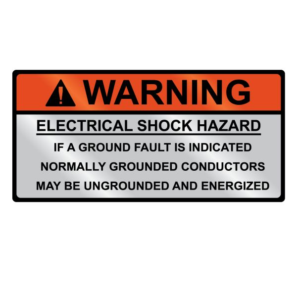 Metal Solar Placard, WARNING GROUNDED..., Hand Writable, 3.75