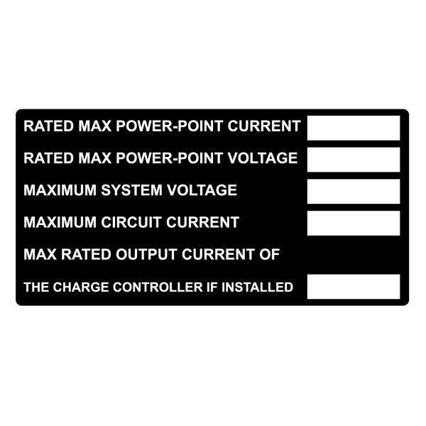 Metal Solar Placard, Hand Writable, DC Module, 4.0