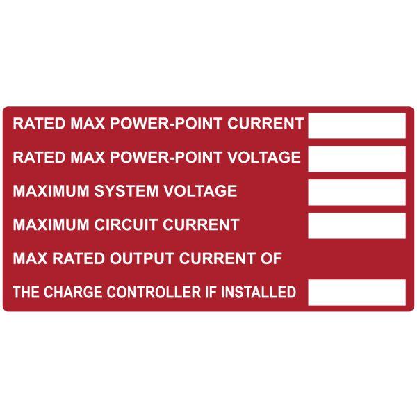 Solar Label, Printable, DC Module, 4.0