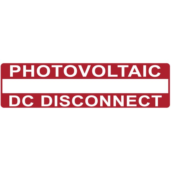 Solar Label, Printable, 2017 Code, PHOTOVOLTAIC DC DISCONNECT, 3.75