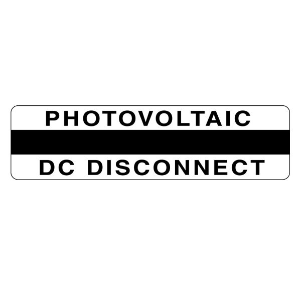 Metal Solar Placard, Engravable, PHOTOVOLTAIC DC DISCONNECT, 3.75