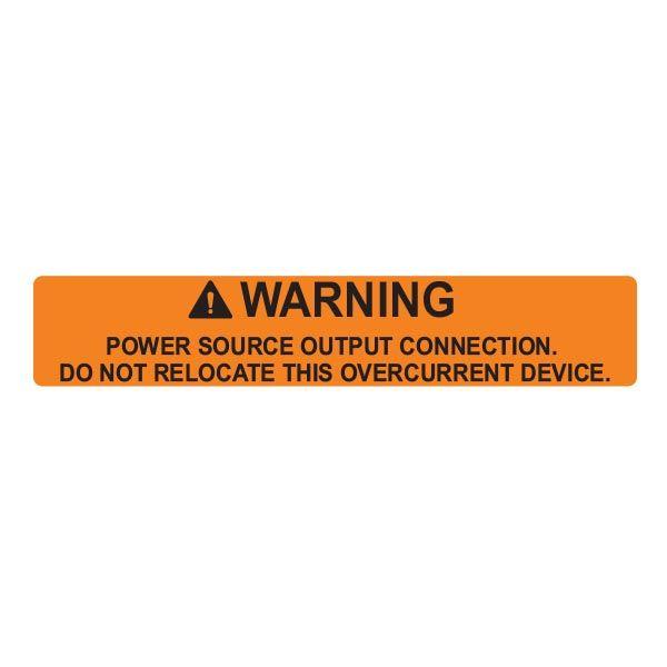 Solar Label, POWER SOURCE OUTPUT, 4.12