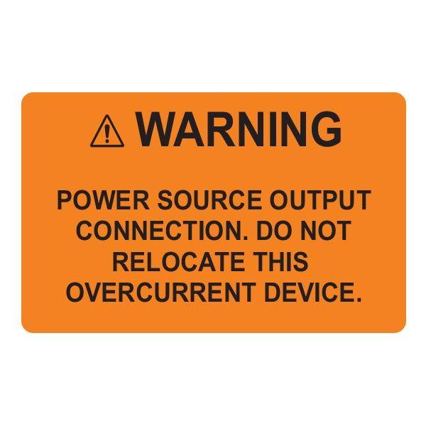 Solar Label, 2017 Code, WARNING POWER SOURCE, 2.0