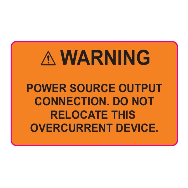 Solar Label, 2017 Code, WARNING POWER SOURCE, 2.0