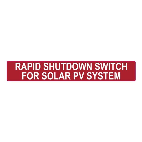 Solar Label, Reflective, 2017 Code, PHOTOVOLTAIC SYSTEM...SHUTDOWN, 6.5