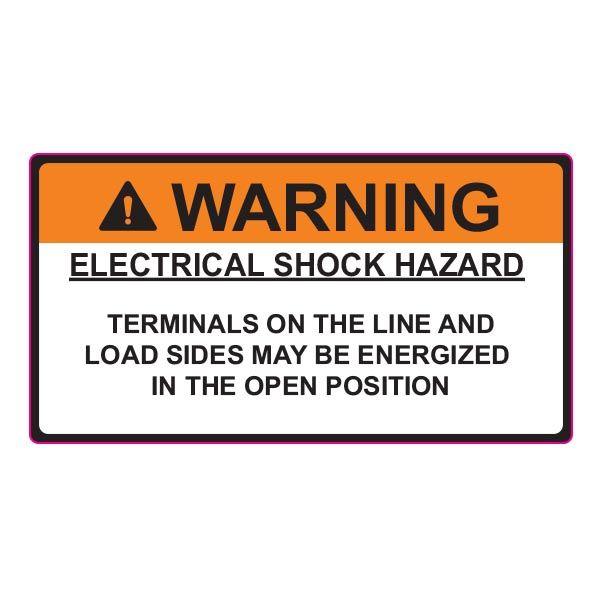 Solar Label, WARNING ELECTRICAL SHOCK HAZARD, 3.75