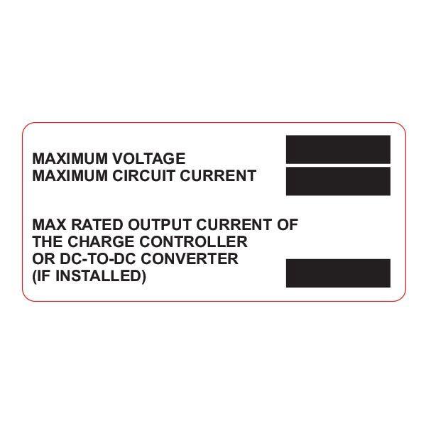 Metal Solar Placard, Engravable, 2017 Code, DC Module, 3.75