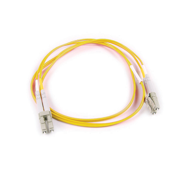 FT LC-LC Duplex OS2 Fiber Assembly, 15M, Yellow, 1/pkg
