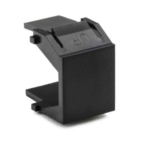 Blank Module, ABS 94V-0, Black, 10/pkg